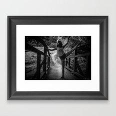 bridge ballet Framed Art Print