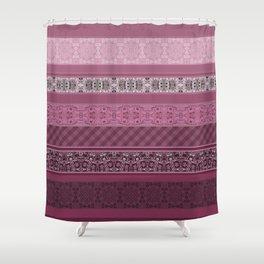 Pink raspberry patchwork 15 Shower Curtain