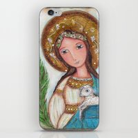 agnes cecile iPhone & iPod Skins featuring Saint Agnes by Flor Larios Art