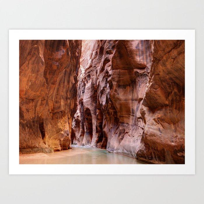 Hike in The Narrows Zion National Park Utah Kunstdrucke
