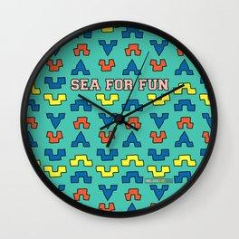 Sea for fun (green) Wall Clock