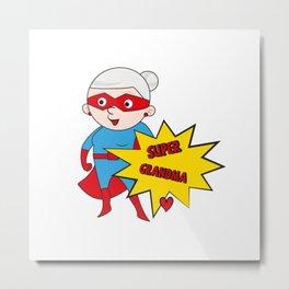 Super Grandma 1 Metal Print