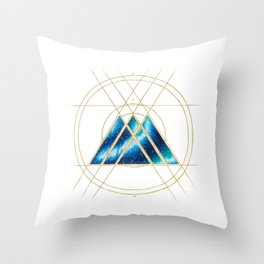 Nebula Warlock Sigil Throw Pillow