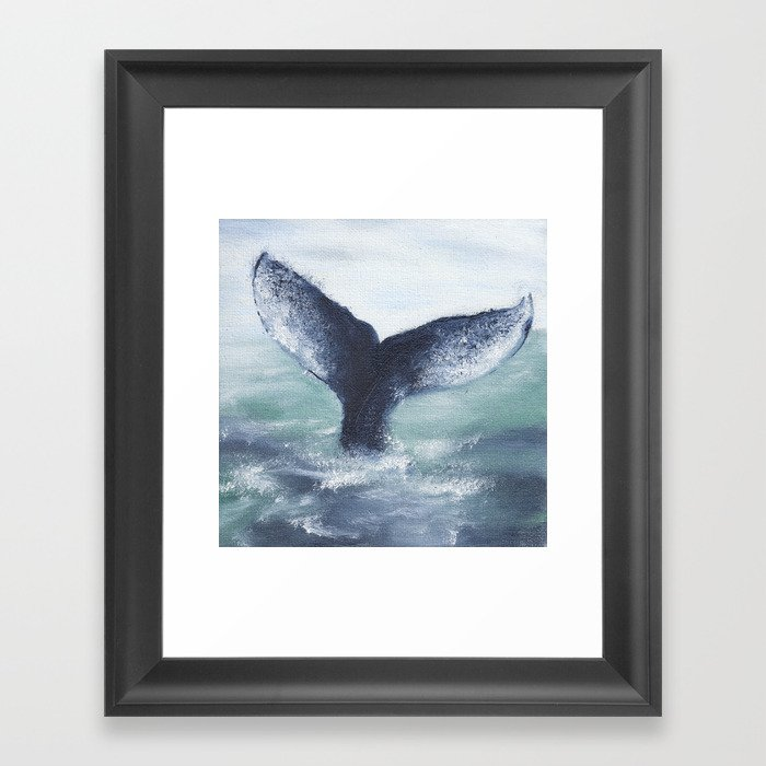 Whale Tale Gerahmter Kunstdruck