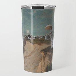 Long Branch New Jersey 1869 By WinslowHomer   Reproduction Travel Mug