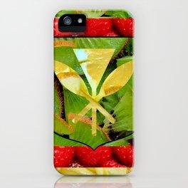 Healthy Kanaka Maoli flag design, Hawaii iPhone Case