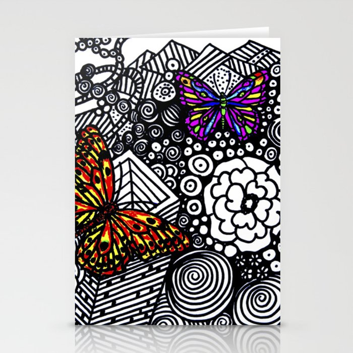 Zentangle Butterfly Stationery Cards By Susanaguaderrama Society6