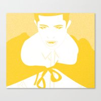 vampire Canvas Prints featuring Vampire by Jessica Slater Design & Illustration