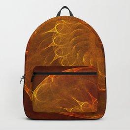 Vintage Orange Fractal Mandala Backpack