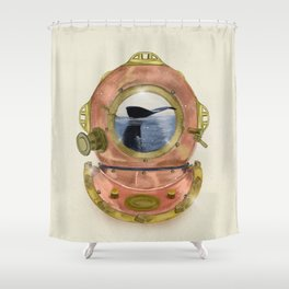 gone diving Shower Curtain