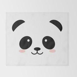 Baby panda emoji Throw Blanket