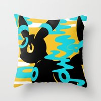 umbreon Throw Pillows featuring #197 - Umbreon (shiny ver.) by Solis