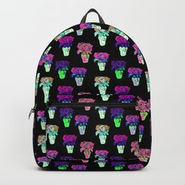 Bright and Bold Beaded Floral Bouquet Pattern Backpack