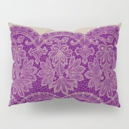 lace border stretched in purple Pillow Sham