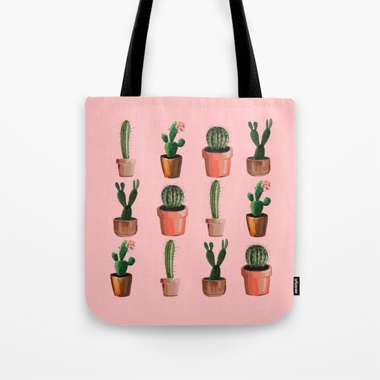 Various Cacti Pink Tote Bag