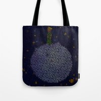 le petit prince Tote Bags featuring LE PETIT PRINCE by Robotic Ewe
