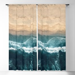 Aerial Coastline Beach Blackout Curtain