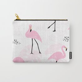 Pretty Flamingos Carry-All Pouch