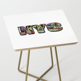 NYC (typography) Side Table
