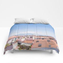 Naples Rooftops Comforters