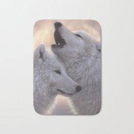 Wolves Howling Moon - Love Song Bath Mat