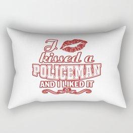 I kissed a POLICEMAN Rectangular Pillow