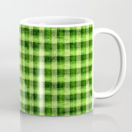 Lime Green and Yellow Gingham Faux Velvet Coffee Mug