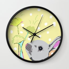 Seize the Day Bunny Wall Clock