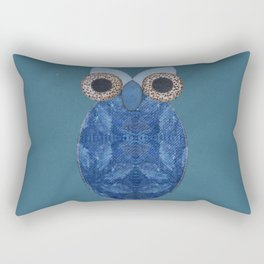 The Denim Owl #02 Rectangular Pillow