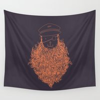 captain Wall Tapestries featuring Aye Aye Captain by Jacques Maes