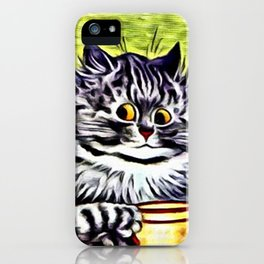 "Louis Wain's Cats ""Kitty On Coffee Break"" iPhone Case"