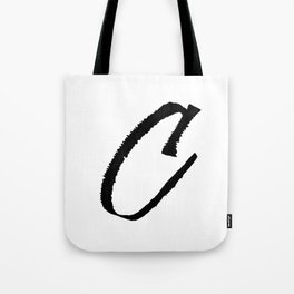 Letter C Ink Monogram Tote Bag