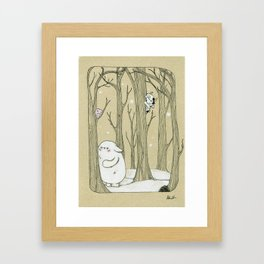 Original character Bostwick and Friends Hide and Seek Framed Art Print