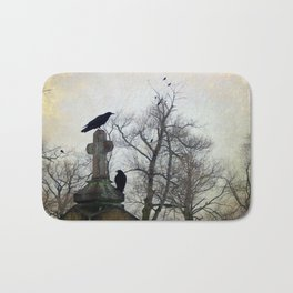 A Gatherng Of Crows Bath Mat