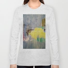 Subliminal Grey. Grey, Rain, Water, Car, Abstract, Blue, Jodilynpaintings Long Sleeve T-shirt