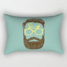 Hipster Biker Rectangular Pillow