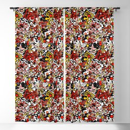 Multicolored abstract pattern. Blackout Curtain
