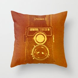 Lubitel Camera Throw Pillow