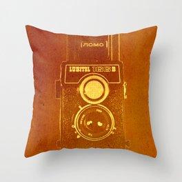 Lubitel Camera Throw Pillow