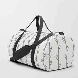 Gray Botanicals Stripes Duffle Bag