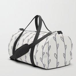 Gray Botanicals Stripes Duffle Bag