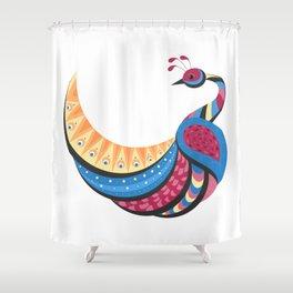 Pretty Peacock Bird Decor Shower Curtain