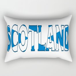 Scotland Font with Scottish Flag Rectangular Pillow