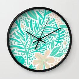Garden – Mint & Cream Palette Wall Clock