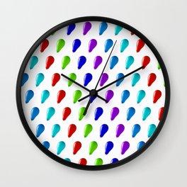 Multi Coloured Balloons. Wall Clock