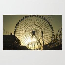 Big wheel & sun Rug