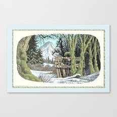 MOSSY RAINFOREST MAPLES IN SNOW Canvas Print