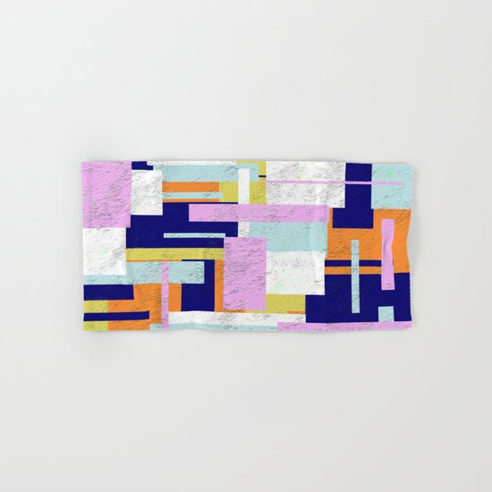 Pale Geometry - Abstract, textured, artwork Hand & Bath Towel