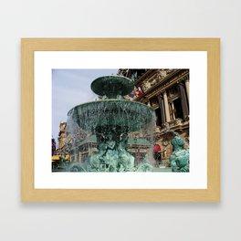 Las Vegas Fountain Framed Art Print