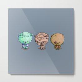 Three Little Monsters Metal Print